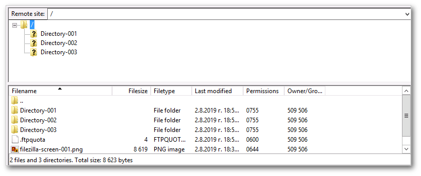 Remote files and folders