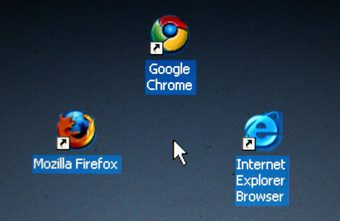 Icons of different web browsers