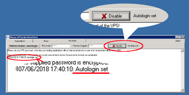 AlwaysUP Autologin Set