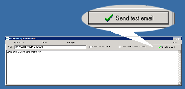 """Send test email"" button"