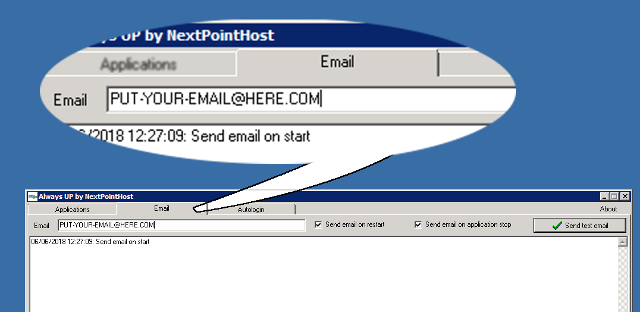 AlwaysUP Email Tab