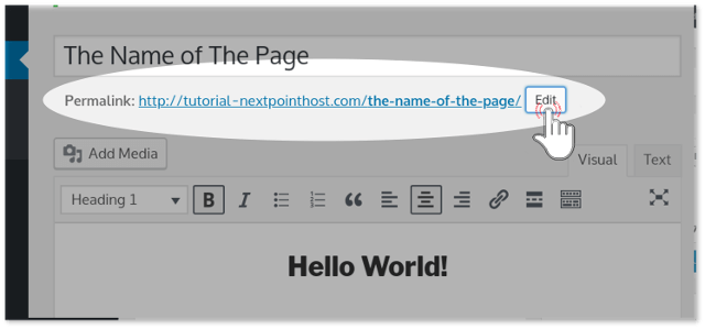 Edit URL of WordPress page aka slug