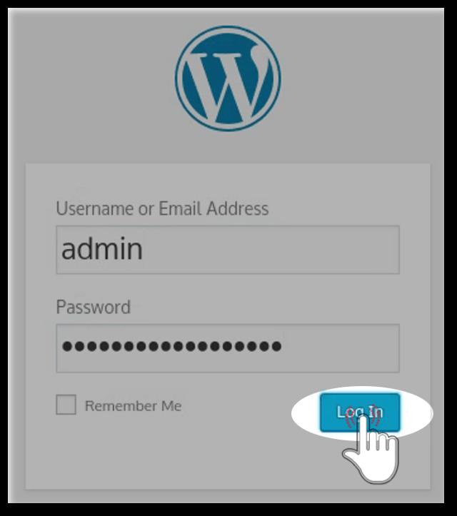 First login at newly installed wordpress