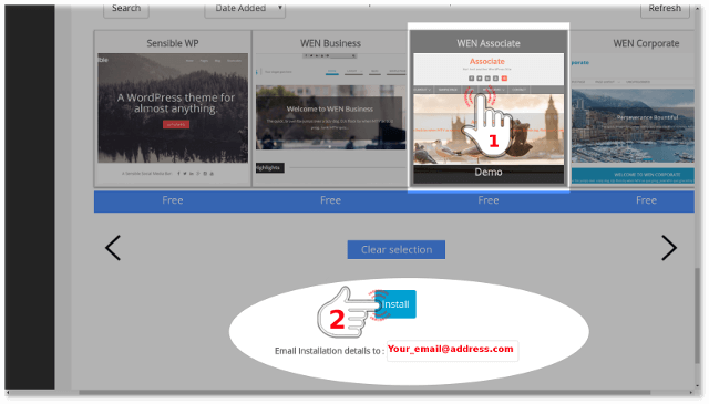 Step-7 WordPress installation via Softaculous final