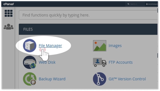 Open cPanel File Manager