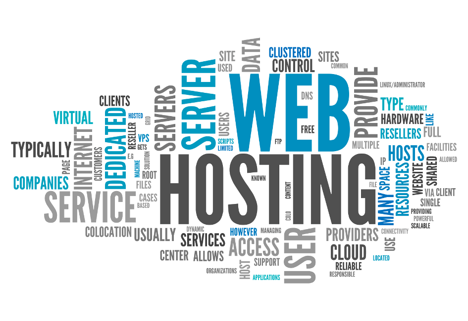Visual presentation of Web Hosting Services